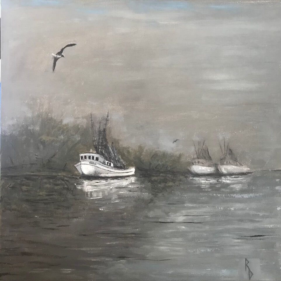 Silent Shores, oil on canvas